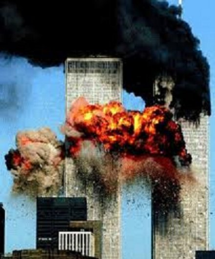 Les Twin Towers en feu le 11/9/2001